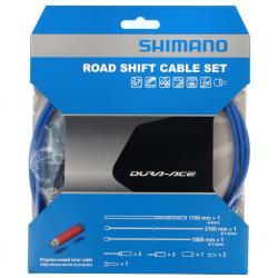 Cables+Gaine SHIMANO dérailleur route Dura-ace Bleu polymère