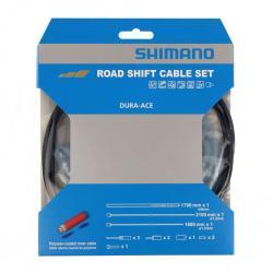 Cables+Gaine SHIMANO dérailleur route Dura-ace Noir polymère