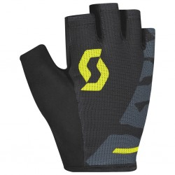 Gants courts SCOTT Aspect Sport Gel noir décor jaune et gris