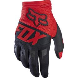 Gants longs FOX vtt Dirtpaw rouge décor blanc