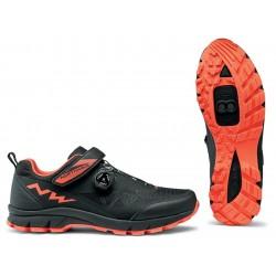 Chaussures NORTHWAVE vtt Corsair noir décor orange fluo