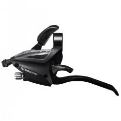 Levier+manette SHIMANO vtc vtt 3v EF500 V-brake triple Gauche 3D noir