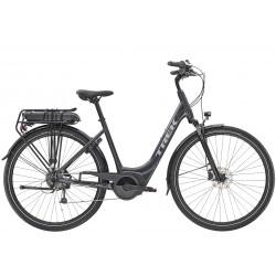 Vélo électrique ville 28p TREK 2020 alu Verve+ 1 LowStep 400 gris foncé décor argent