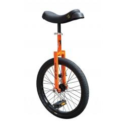 Monocycle 20p QU-AX acier Luxus 20 orange décor noir