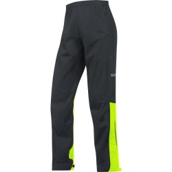 Pantalon imperméable GORE C3 GoreTex AS noir décor jaune fluo