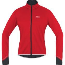 Veste thermique GORE hiver C5 Windstopper rouge décor noir