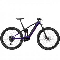 Vélo électrique vtt 29p TREK 2020 carbon Rail 9.8 625 noir carbon mat décor violet