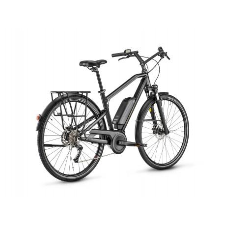 Vélo électrique vtc 28p MOUSTACHE 2020 alu Samedi 28.1 400 noir mat décor gris