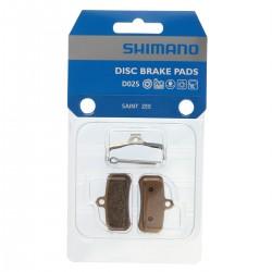 Plaquettes de frein SHIMANO support acier D02S sans ventilation