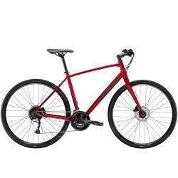 Vélo route 700 alu TREK 2021 fitness FX 3 Disc rouge Rage décor noir mat