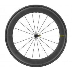 Roues à pneu 700 MAVIC route Comete Pro Carbon UST 25 noire décor noir