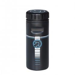 Bidon de rangement PRO pvc 750 noir décor blanc et bleu