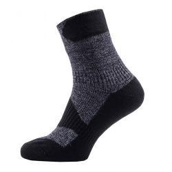 Chaussettes SEALSKINZ imperméables Walking Thin Ankle gris décor noir