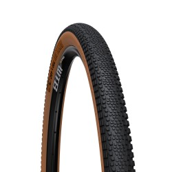 Pneu 700 WTB gravel route Riddler 45c TCS Light Tubeless Ready noir flancs beiges