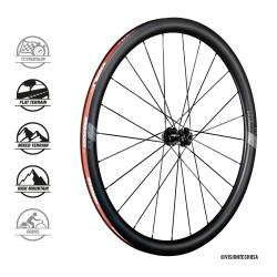 Roues à pneu 700 VISION route SC40 Carbon Disc CL SH10/11v noire décor gris