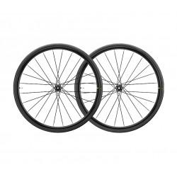 Roues à pneu 700 MAVIC route Aksrium Elite Evo UST Disc CL ID360 SH 28 noire décor gris