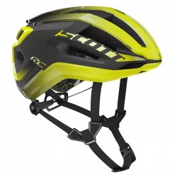 Casque SCOTT route Centric Plus gris anthracite décor jaune fluo