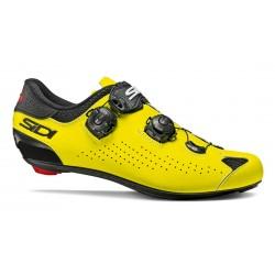 Chaussures SIDI route Genius 10 jaune fluo décor noir