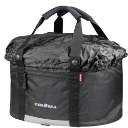 Panier sac avant KLICKFIX tissu bache souple Shopper Comfort noir
