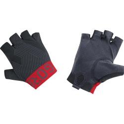 Gants courts GORE C7 noir décor rouge et gris