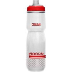 Bidon isotherme CAMELBAK Podium Chill 0.7 Litre blanc décor rouge