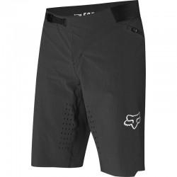 Short avec cuissard intégré FOX vtt Flexair noir décor chromé
