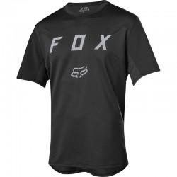 Maillot manches courtes FOX vtt Flexair Moth noir décor argent