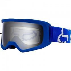 Masque FOX vtt Main 2 Race bleu décor blanc