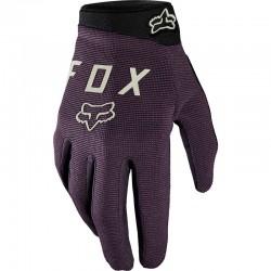 Gants longs FOX femme Ranger violet décor noir