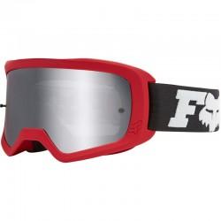Masque FOX vtt Main Linc Spark rouge décor noir et blanc