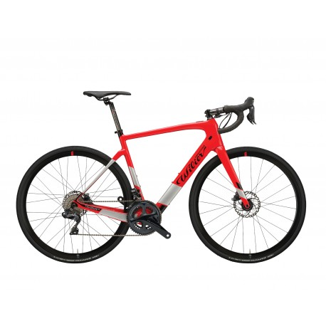 Vélo électrique course carbone 700 WILIER 2020 Cento1 Hybrid Disc Ult 250 rouge brillant décor gris et noir