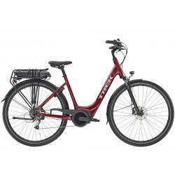 Vélo électrique ville 28p TREK 2020 alu Verve+ 1 LowStep 400 rouge magenta décor argent