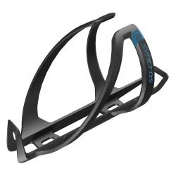 Porte-bidon SYNCROS composite carbon route vtt Coupe 1.0 noir mat décor bleu Ocean Blue