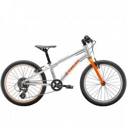 Vélo VTT garçon 6 à 9 ans 20p alu - TREK 2021 Wahoo 20 - Gris Quicksilver Décor orange