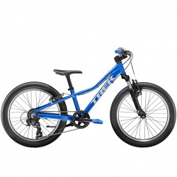 Vélo VTT garçon 6 à 9 ans alu - TREK 2021 Précaliber 20 Boys - Bleu Alpine Décor gris Quicksilver : 35mm