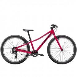 Vélo VTT fille 9 à 12 ans 24p alu - TREK 2021 Précaliber 24 Girls - Rouge magenta Décor noir