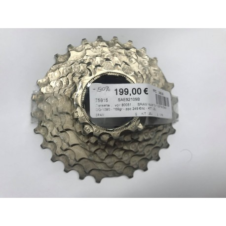 Cassette SRAM - 10v 11x28 - Red Rouge OG-1090 - Route