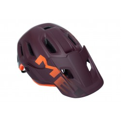 Casque MET vtt Roam - Rouge bordeaux/Décor orange mat