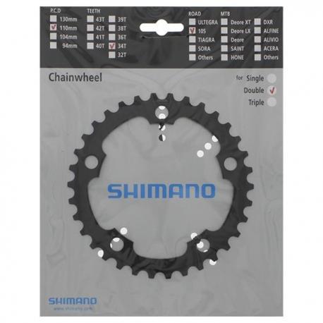 Plateau 110x5 SHIMANO alu route 11v RS500 intèrieur compact noir