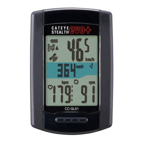 Compteur Altimètre GPS CATEYE Stealth Evo GL11 - Noir