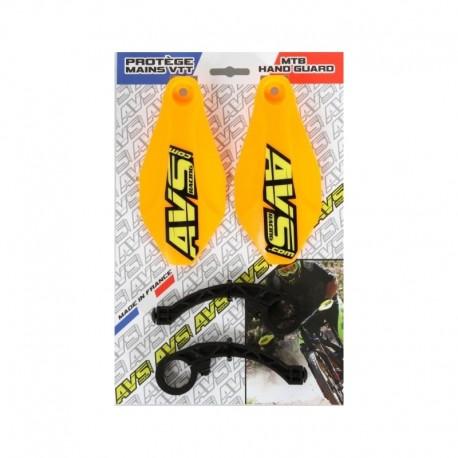 Protège mains AVS polyamide Basic orange fluo décor jaune