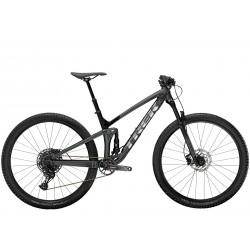 Vélo vtt 29 alu TREK 2021 Top Fuel 7 SX 29 gris lithium décor noir et argent