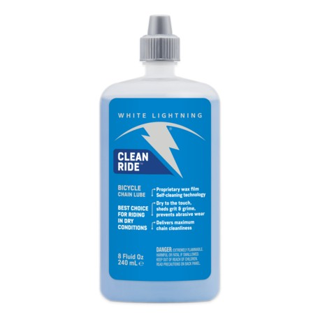 Lubrifiant cire WHITE LIGHTNING chaine Clean Ride 235
