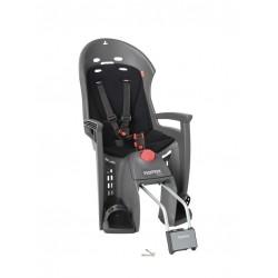 Porte-bébé HAMAX arrière sur cadre Siesta gris foncé décor noir