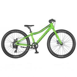 Vélo VTT garçon 9 à 12 ans 24p alu - SCOTT 2021 Scale 24 Rigid Disc - Vert néon Décor noir