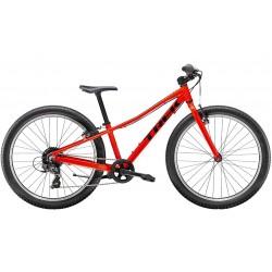 Vélo VTT garçon 9 à 12 ans 24p alu - TREK 2021 Précaliber 24 Boys - Rouge néon Décor noir