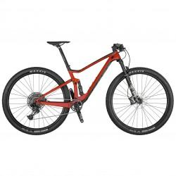 Vélo VTT 29p carbone - SCOTT 2021 Spark RC 900 Comp - Rouge décor noir et gris
