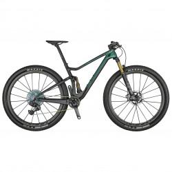Vélo VTT 29 carbone - SCOTT 2021 Spark RC 900 SL AXS - Vert d'eau reflet violet décor noir