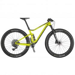 Vélo VTT 29p carbone - SCOTT 2021 Spark RC 900 World Cup AXS - Jaune fluo décor noir et argent