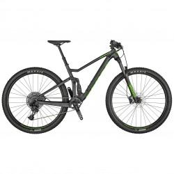 Vélo VTT 29p alu - SCOTT 2021 Spark 970 - Noir granite décor vert fluo